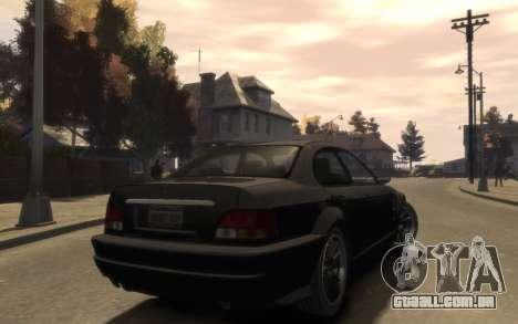 A supremacia do Sentinel (XS) 4 portas para GTA 4 vista direita