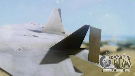 F-15DJ (E) JASDF Aggressor 32-8081 para GTA San Andreas traseira esquerda vista