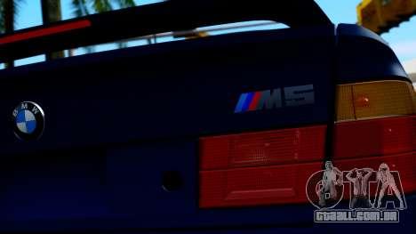 BMW M5 E34 Gradient para GTA San Andreas vista traseira