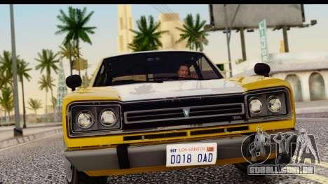 GTA 5 Vulcar Warrener SA Style para GTA San Andreas traseira esquerda vista