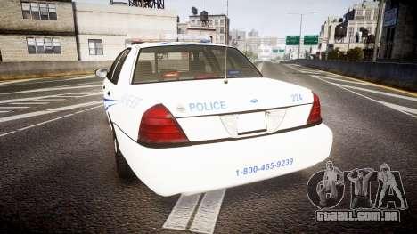 Ford Crown Victoria CNPS [ELS] para GTA 4 traseira esquerda vista