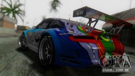 Porsche 911 GT3-RSR para GTA San Andreas esquerda vista