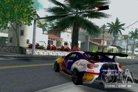 Toyota GT86 Red Bull para GTA San Andreas traseira esquerda vista