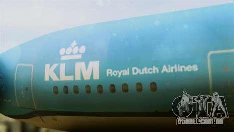 Airbus A330-200 KLM New Livery para GTA San Andreas vista traseira