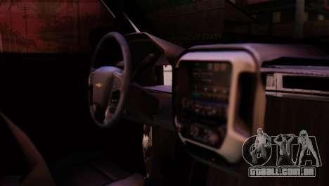 Chevrolet Silverado Enlodada para GTA San Andreas vista traseira