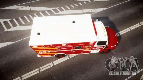 Freightliner M2 2014 Ambulance [ELS] para GTA 4 vista direita