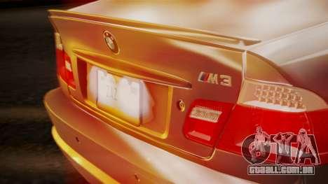 BMW M3 E46 v2 para vista lateral GTA San Andreas