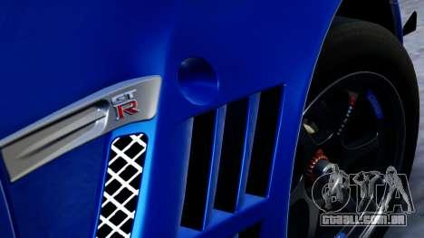 Nissan GT-R (R35) GT3 2012 PJ2 para GTA San Andreas vista direita