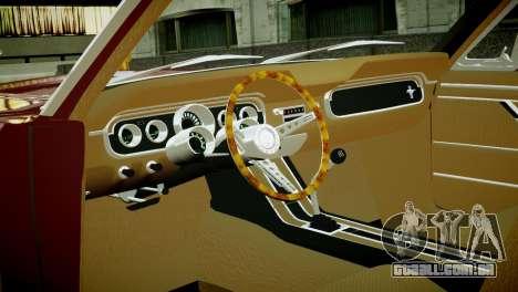 Ford Mustang 1965 para GTA 4 vista de volta