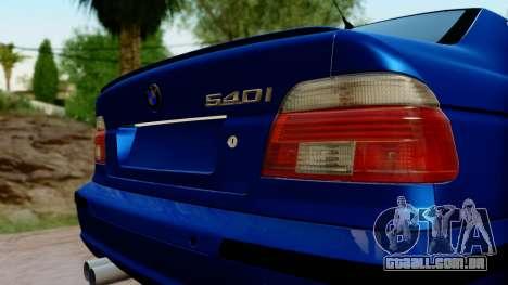 BMW 540i E39 para GTA San Andreas vista traseira
