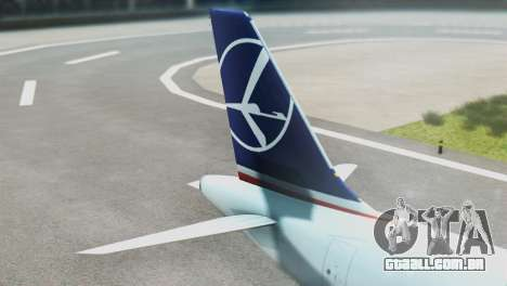 LOT Polish Airlines Boeing 747-400 para GTA San Andreas traseira esquerda vista