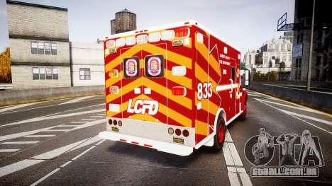 Freightliner M2 2014 Ambulance [ELS] para GTA 4 traseira esquerda vista