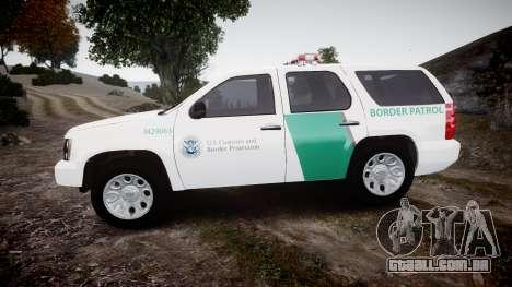 Chevrolet Tahoe Border Patrol [ELS] para GTA 4 esquerda vista