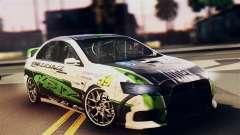 Mitsubishi Lancer Evo X 2011 Rally Bohemia para GTA San Andreas