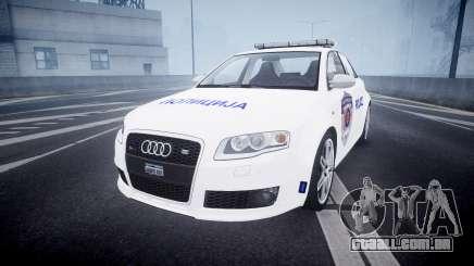 Audi RS4 Serbian Police [ELS] para GTA 4