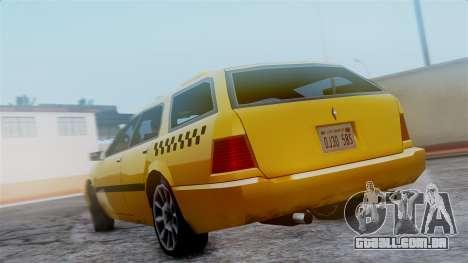 Stratum Taxi para GTA San Andreas vista traseira