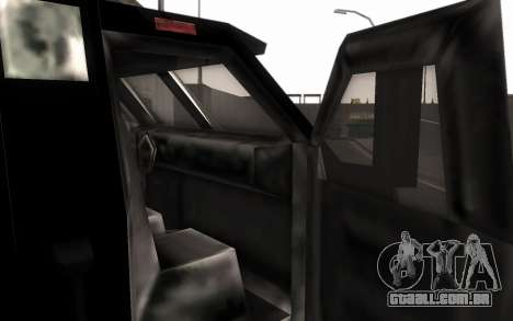 Máquina de entrega de peças de ajuste para GTA San Andreas traseira esquerda vista