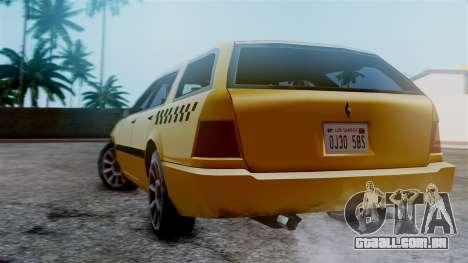 Stratum Taxi para GTA San Andreas esquerda vista