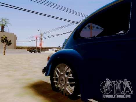 Volkswagen Beetle 1980 Stanced v1 para GTA San Andreas vista interior