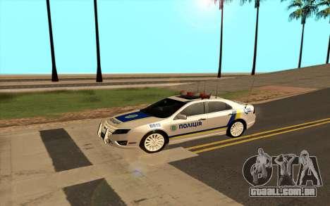 Ford Taurus Ukraine Police para GTA San Andreas esquerda vista