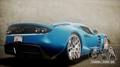 Hennessey Venom GT 2012 U.S.A American para GTA San Andreas esquerda vista