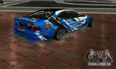 BMW M3 E46 ToyoTires GT-SHOP para GTA San Andreas esquerda vista