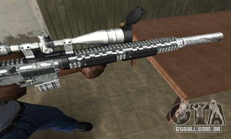 Full Silver Sniper Rifle para GTA San Andreas segunda tela