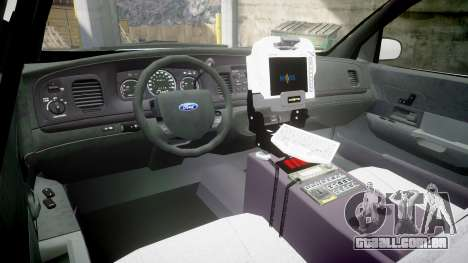 Ford Crown Victoria Bohan Police [ELS] para GTA 4 vista de volta