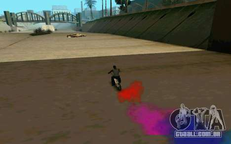 Bike Smoke para GTA San Andreas quinto tela