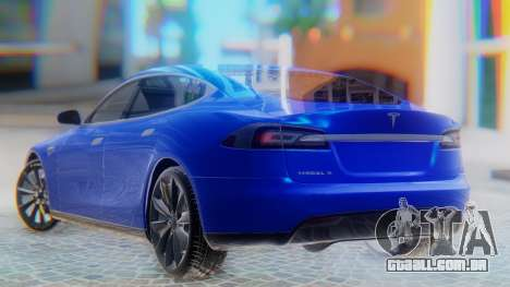 Tesla Model S para GTA San Andreas esquerda vista