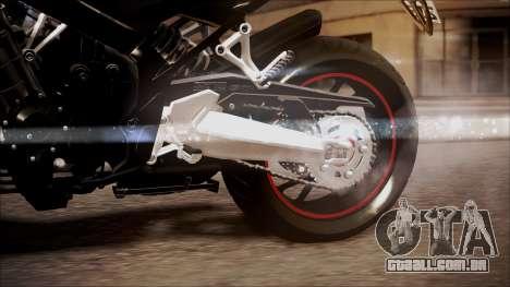Honda CB650F Pretona para GTA San Andreas vista direita