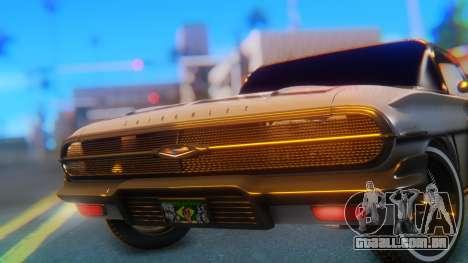 Chevrolet Impala 1960 para GTA San Andreas vista traseira