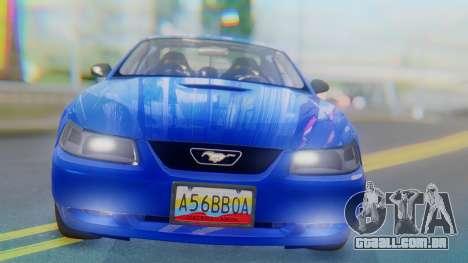 Ford Mustang 1999 Clean para GTA San Andreas vista interior