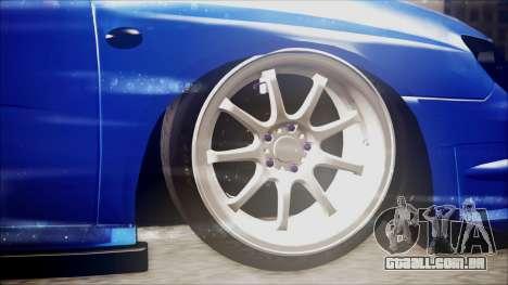 Subaru Impreza WRX STI B. O. Construction para GTA San Andreas traseira esquerda vista