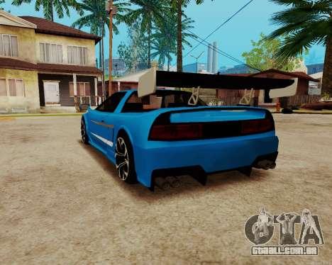 Infernus Lamborghini para GTA San Andreas traseira esquerda vista
