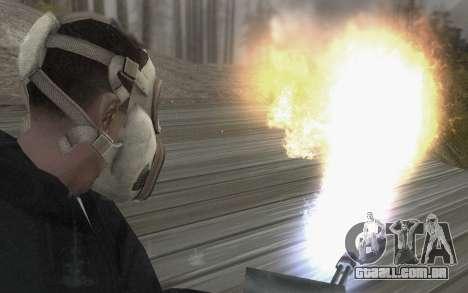 A máscara é do DayZ Standalone para GTA San Andreas terceira tela