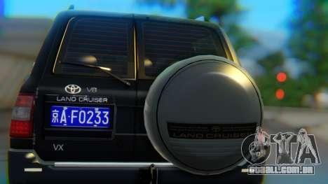 Toyota Land Cruiser 105 para GTA San Andreas vista interior