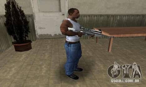 Full Silver Sniper Rifle para GTA San Andreas terceira tela