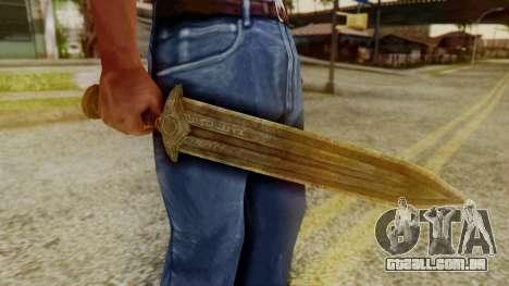 Dwarven Dagger para GTA San Andreas segunda tela