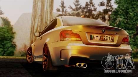 BMW 1M E82 v2 para GTA San Andreas esquerda vista