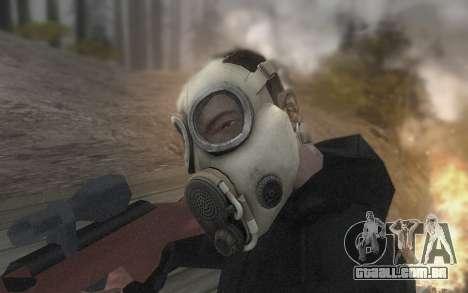 A máscara é do DayZ Standalone para GTA San Andreas por diante tela