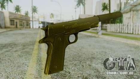 Silenced M1911 Pistol para GTA San Andreas segunda tela