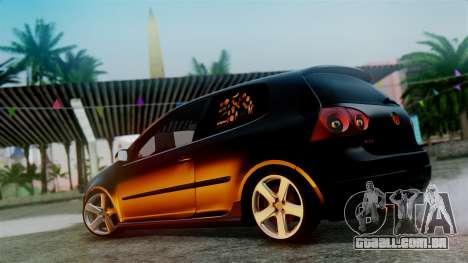 Volkswagen Golf Mk5 para GTA San Andreas vista interior
