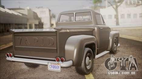 GTA 5 Vapid Slamvan Pickup para GTA San Andreas esquerda vista
