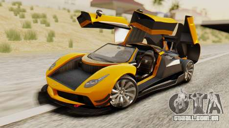 Pegassi Osyra Full Extras para GTA San Andreas vista interior