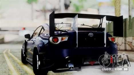 Toyota GT86 para GTA San Andreas esquerda vista