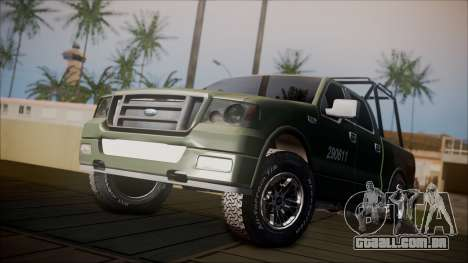 Ford F-150 Military MEX para GTA San Andreas