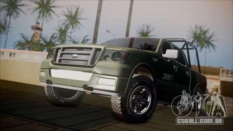 Ford F-150 Military MEX para GTA San Andreas