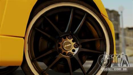 Mitsubishi Lancer Evolution 2015 para GTA San Andreas traseira esquerda vista