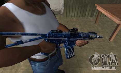 Blue Life M4 para GTA San Andreas